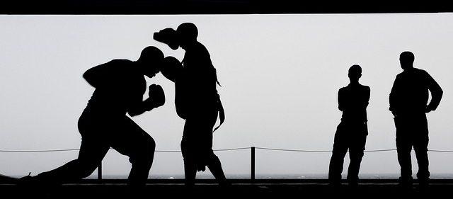ボクシングの練習風景