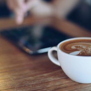 コーヒーを飲みながら天鳳の成績を報告